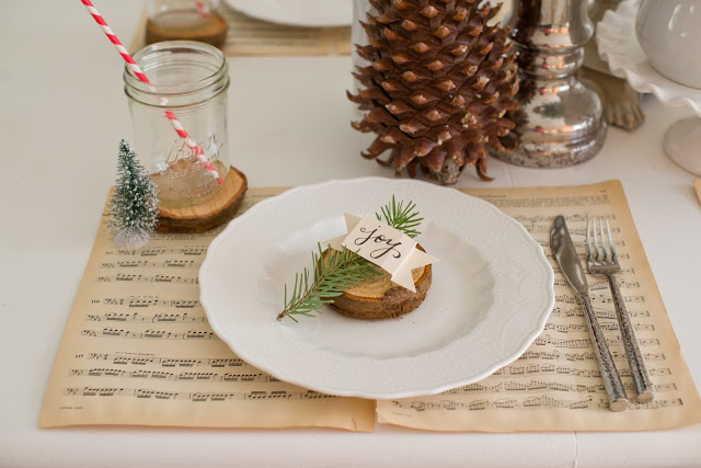 Natural Woodland Christmas Tablescape-19