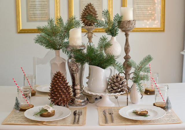 Natural Woodland Christmas Tablescape-21
