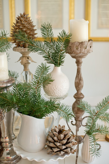 Natural Woodland Christmas Tablescape-9